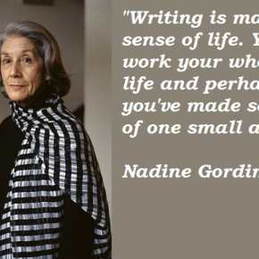 Essay: 'Nadine Gordimer: Portrait of a writer' by Barnil Bhattacharjee